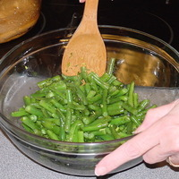 Steamed Green Beans with Lemon & Dill